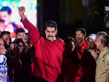 Nicolás Maduro, no domingo em Caracas
