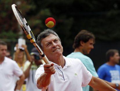 Mauricio Macri, prefeito de Buenos Aires, durante ato de campanha.