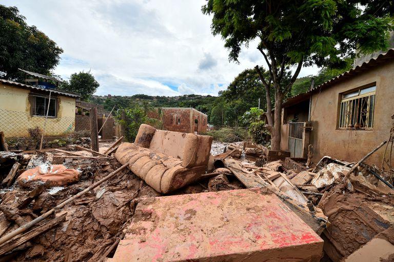 Um dos bairros de Sabará, na região metropolitana de Belo Horizonte, afetados pelas fortes chuvas.