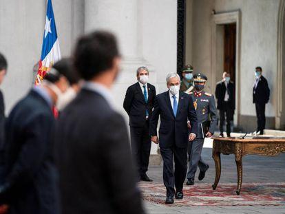 O presidente do Chile, Sebastián Piñera, no palácio de La Moneda, em junho.