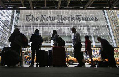 Fachada da sede central do 'The New York Times'.
