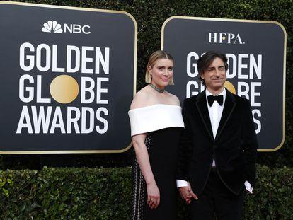 O casal na última cerimônia do Globo de Ouro.
