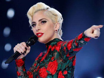 Lady Gaga em novembro, em Paris.