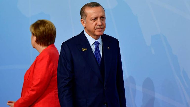 Erdogan e Angela Merkel