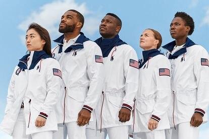 Uniformes olímpicos dos EUA, assinados por Ralph Lauren.
