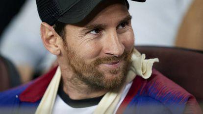 Messi, nesta quarta-feira, no Camp Nou.