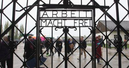 Campo de concentração de Dachau, neste domingo.