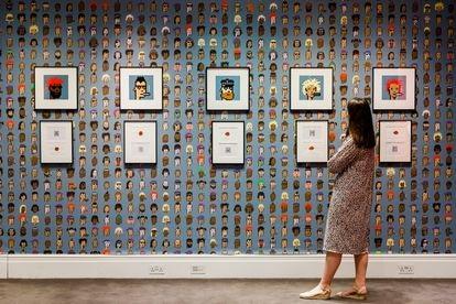 Exposição da obra de arte digital chamada CryptoPunk, da Natively Art.