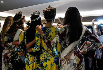 Um grupo de candidatas ao Miss Venezuela.