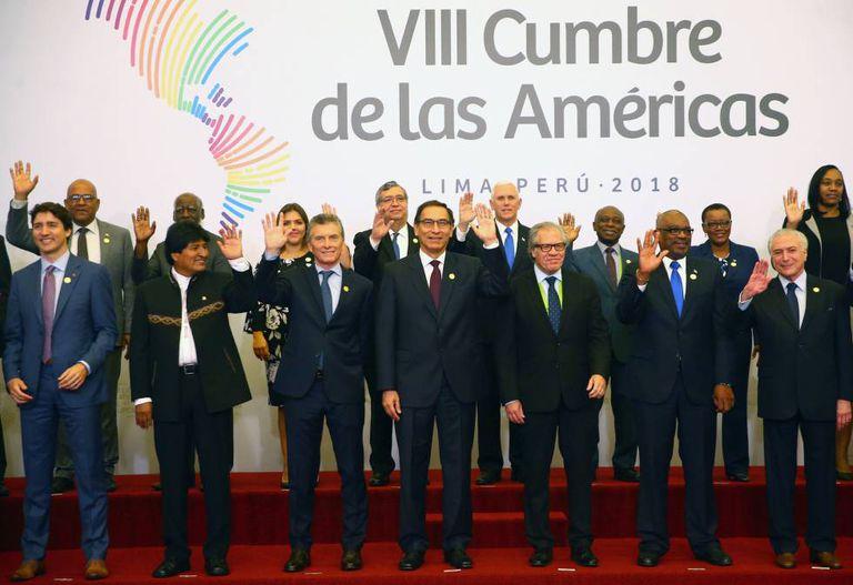 Chefes de Estado e representantes que participam da VIII Cúpula das Américas