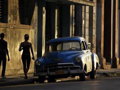 Uma rua de Havana.