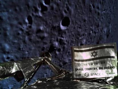 Selfie feita a 20 quilômetros de altura, pouco antes de a sonda 'Bersheet' colidir contra a Lua.