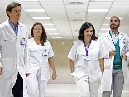 A equipe médica de Teresa Romero.