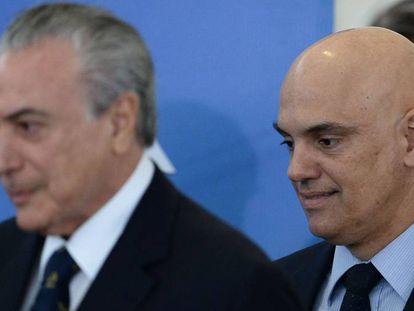 Temer e Moraes no último dia 3.
