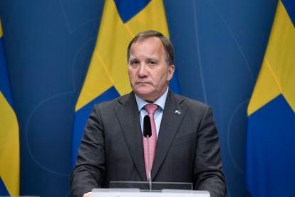 O primeiro-ministro da Suécia, Stefan Löfven, durante a entrevista coletiva em que apresentou sua demissão em Estocolmo, nesta segunda-feira.