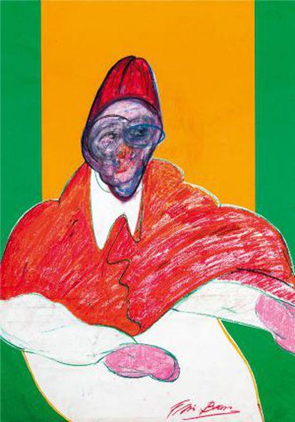 Desenho de Francis Bacon, que faz parte da Série dos Papas.