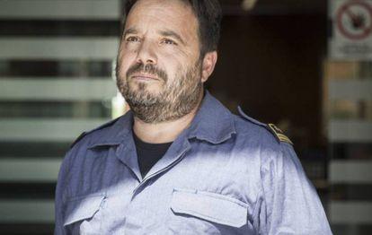 Marc Castellnou, no centro de controle de bombeiros de Catalunha.