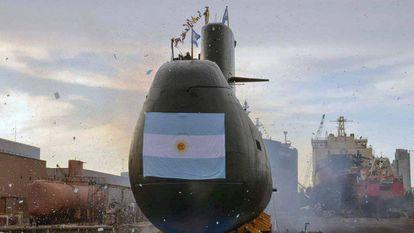 O submarino ARA San Juan em Buenos Aires.