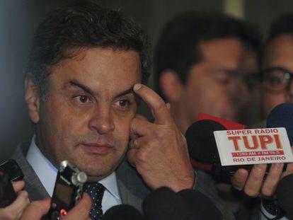O candidato do PSDB à presidência, Aécio Neves.