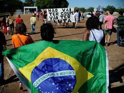 Simpatizantes de Dilma Rousseff.