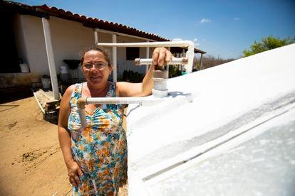 A agricultora Antônia Márcia da Silva Lopes.