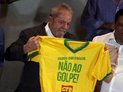 O ex-presidente Lula, nesta quarta-feira.