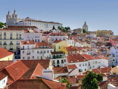 Vista do bairro Alfama, em Lisboa.