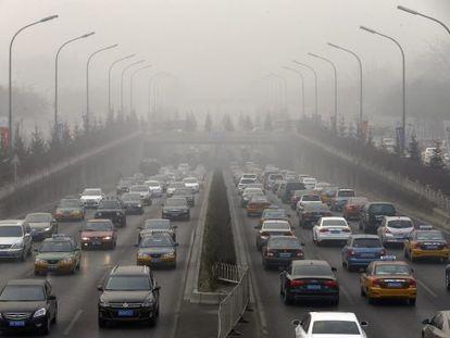 Poluição em Beijing: acordo busca reduzir emissões.