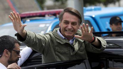 O presidente eleito Jair Bolsonaro no Rio de Janeiro