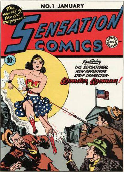 Capa do primeiro número da Mulher Maravilha.