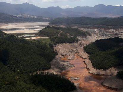 Barragens da mineradora Samarco na região de Mariana.