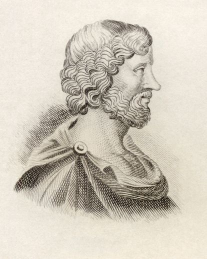 Aristipo, discípulo de Sócrates e pai dos hedonistas.