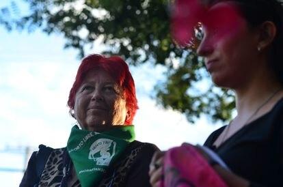 Beatriz Bataszew participa em dezembro de 2019 de homenagem às mulheres assassinadas no centro de detenção Venda Sexy.