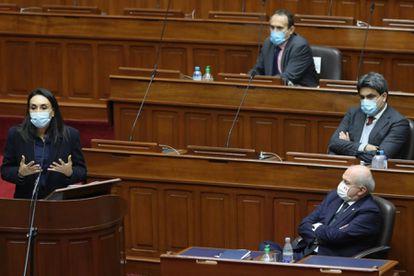 Sessão do Congresso peruano.
