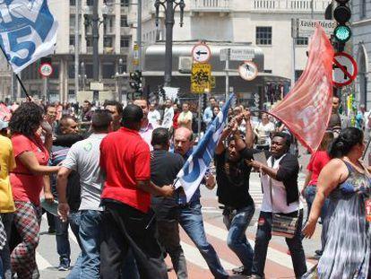 Militantes se enfrentaram em SP no dia 23.