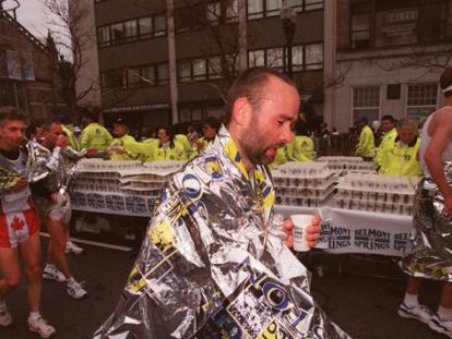 """Finisher"" da maratona de Boston."