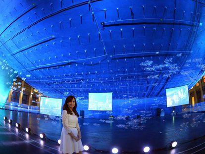 Cristina Fernández inaugura o Centro Cultural Néstor Kirchner, em 21 de maio de 2015.