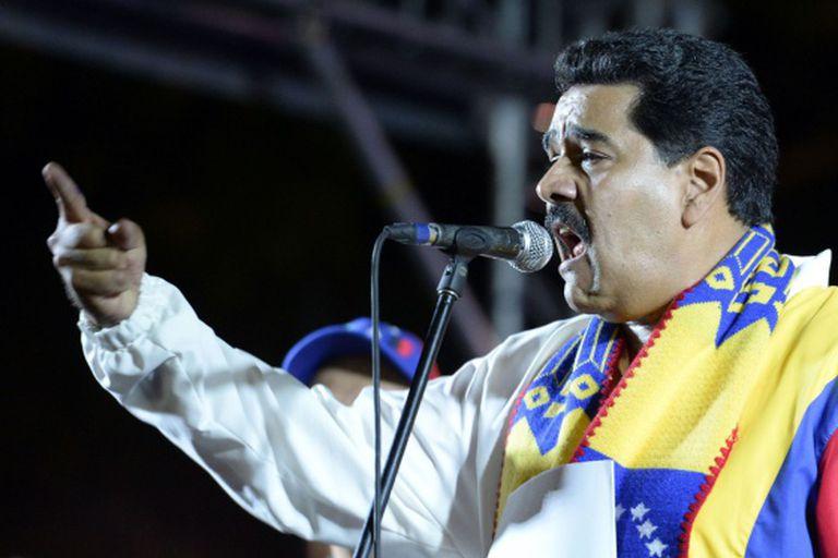 O presidente Maduro durante seu discurso no último domingo.