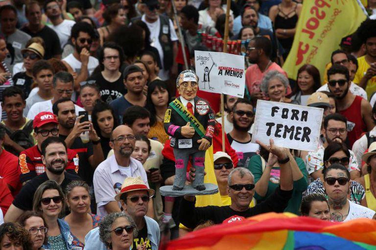 Manifestação no Rio de Janeiro, no último domingo.