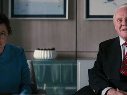 Olivia Colman e Anthony Hopkins, em 'Meu Pai'. No vídeo, o trailer do filme.