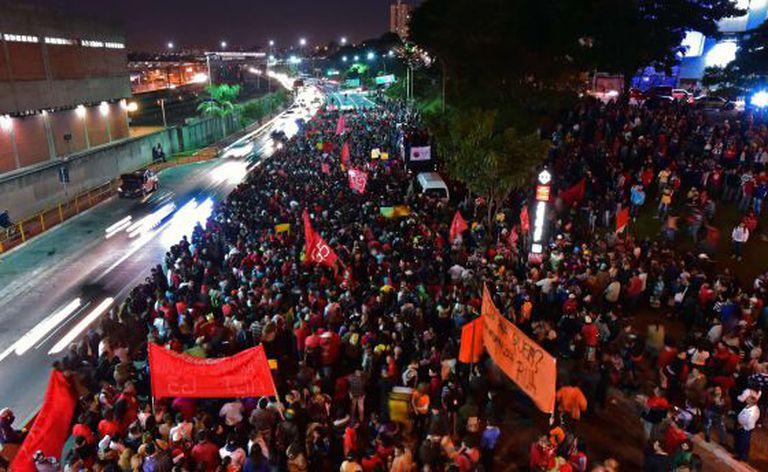 Protesto contra a Copa em 4 de junho.