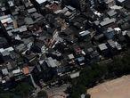An aerial view of the Rio das Pedras slum during the coronavirus disease (COVID-19) outbreak, in Rio de Janeiro, Brazil, March 26, 2020.  REUTERS/Ricardo Moraes
