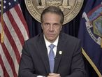 New York Governor Andrew Cuomo announces he will resign in this screen grab taken from a video released by the Office of the NY Governor, in New York, U.S., August 10, 2021. Office of Governor Andrew M. Cuomo/Handout via REUTERS  THIS IMAGE HAS BEEN SUPPLIED BY A THIRD PARTY.