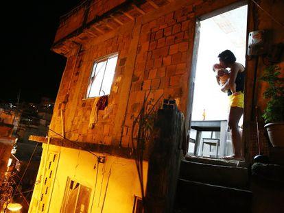 Casa em uma favela no Rio de Janeiro.