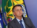 FILE PHOTO: Brazil's President Jair Bolsonaro talks during a ceremony of signing a decree establishing the Public Integrity System of the Federal government at the Planalto Palace in Brasilia, Brazil July 27, 2021. REUTERS/Adriano Machado/File Photo