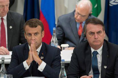 Macron e Bolsonaro se reuniram nesta sexta, após o Governo brasileiro ter anunciado o cancelamento do encontro,
