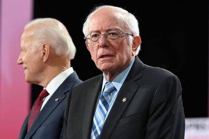 Os pré-candidatos democratas Joe Biden e Bernie Sanders.