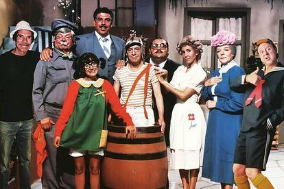 O elenco de Chaves.