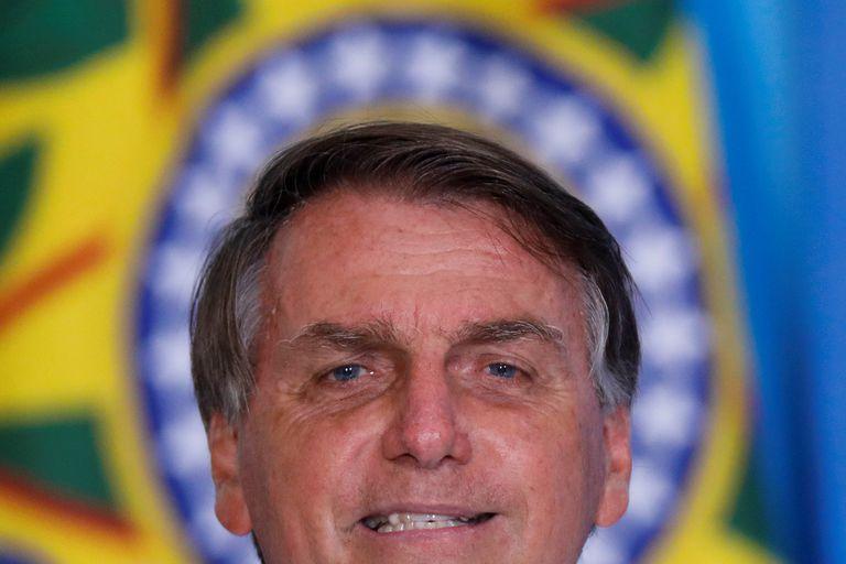O presidente Jair Bolsonaro durante cerimônia no Palácio do Planalto em 12 de janeiro.