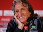 Soccer Football - Club World Cup - Liverpool v Flamengo - Flamengo Press Conference - Khalifa International Stadium, Doha, Qatar - December 20, 2019  Flamengo coach Jorge Jesus during the press conference  REUTERS/Corinna Kern